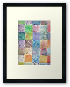 Watercolor Background Framed Prints by Ailan Olsen