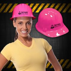 With this pink construction novelty hat, you'll be building a successful new promotional strategy in no time! This eye-catching hardhat is made of plastic, is one-size-fits-most and makes for an outstanding promotional giveaway for construction companies, industrial plants, labor unions and much more. Priced per piece but please order in increments of 1 dozen. Customize with an imprint of your company name and logo to maximize brand visibility. Please note that this is a novelty item tha...