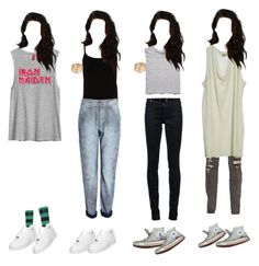 """""""#211"""" by judieabbott ❤ liked on Polyvore featuring Velvet by Graham & Spencer, Topman, Free People, McQ by Alexander McQueen, By Malene Birger, H&M, Notify, Converse, NIKE and Sperry"""
