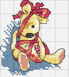 Schematic cross stitch Newton-wrapped