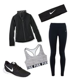 Rainy running day by abbeyjn on Polyvore featuring polyvore, fashion, style, L.L.Bean, NIKE, women's clothing, women's fashion, women, female, woman, misses and juniors