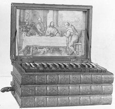 Book Harmonium Date: 19th century France or Germany - Medium: Wood, various materials