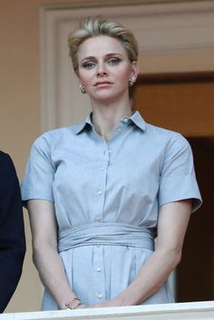 Pin for Later: Even Princess Charlene Is a Fan of Summer's Favorite Dress She Kept Her Look Simple, Pairing the Piece With Statement Earrings