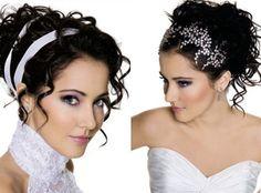 Grinalda, presilha, tiara ou flores para o cabelo da noiva - Fotos e dicas |Portal Tudo Aqui