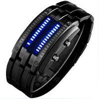 Luxury Led Watch Stainless Steel Fashion Men Watch Men Binary Digital Sport Watch ML0054