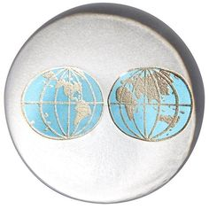 Connor Earth Paperweight (330 ILS) ❤ liked on Polyvore featuring home, home decor, office accessories, ivorybone, handmade box and round box
