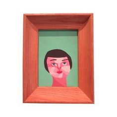 Small Portrait Painting of Woman