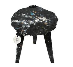sea chair made from plastic debris found on the beach by studio swine