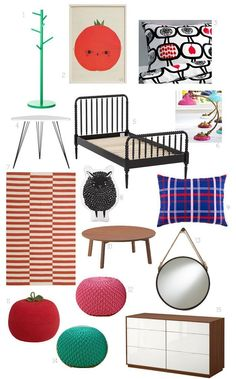 Kid's Room Style Board:  Fruit Bomb