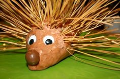 Pine Needle Hedgehog fine motor play for forest theme and One Winter's Day book