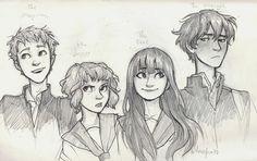 I like how Burdge drew these foursome. :) Art by Burdge.