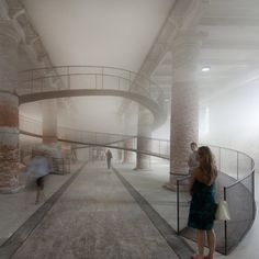Venice Architecture Biennale 2010: Japanese studio Tetsuo Kondo Architects and environmental engineering firm Transsolar have suspended a cloud inside the Arsenale exhibition space at the Venice Architecture Biennale.