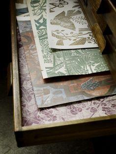 Beautiful.  Martha Armitage handprinted wallpaper.