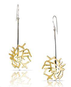 Astro Earring 4 by Lori Gottlieb (Gold & Silver Earrings) | Artful Home