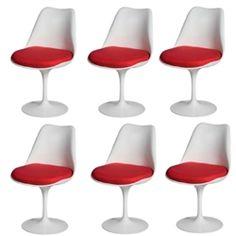 Fine Mod Imports Eero Saarinen Style Tulip Side Chair Set Of 6 Restoration Hardware Chair, Eero Saarinen, Modern Classic, Side Chairs, Tulips, Style, Swag, Chairs, Tulip