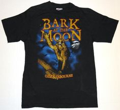 Vintage 1984 Ozzy Bark at the Moon Tour Shirt. Original