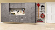 Garage storage space for the whole family.