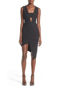 MISSGUIDED Asymmetrical Sheath Dress available at #Nordstrom