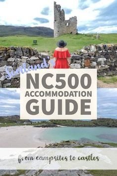 North Coast 500 Accommodation Guide: from Castles to Campsites From Scottish campsites to castles, hostels to hotels; this North Coast 500 accommodation guide has options for every type of travel budget. Scotland Travel Guide, Scotland Road Trip, Europe Travel Guide, Ireland Travel, Scotland Vacation, Travelling Europe, Traveling, Travel List, North Coast 500 Scotland