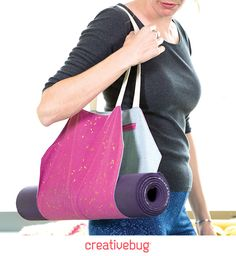 Join sewer and quilter Ashley Nickels and learn how to create a stylish, functional carrier bag for your yoga mat.