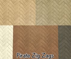 This is came about because I have serious issues with telling myself that this is too tedious and to not bother.I made the Maxis Zig Zags floor in Shasta's pirate woods, with some additional colours from Aelia's Eco palette.The files have not been compressed, and a swatch is included.DownloadCredit:ShastaAeliaMy cheersquad