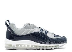 Nike x Supreme Air Max 98 Navy Air Max Sneakers, Sneakers Nike, Air Max 98 Supreme, Men's Shoes, Nike Shoes, Air Jordan Shoes, Reebok, Rihanna, Nike Air Max