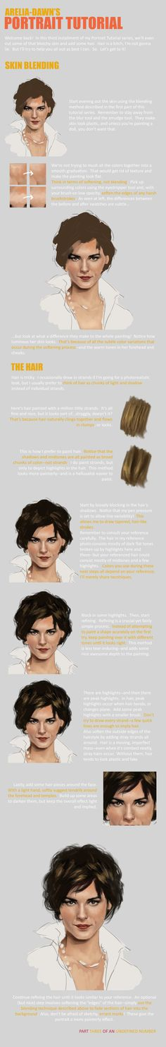 Portrait Tutorial, Part Three by ~arelia-dawn on deviant ACT Find more at https://www.facebook.com/CharacterDesignReferences
