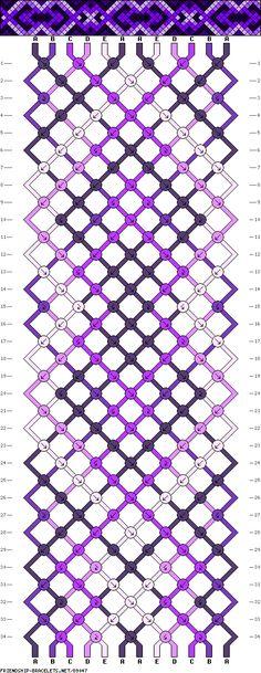 Muster # 89047, Streicher: 12 Zeilen: 34 Farben: 5