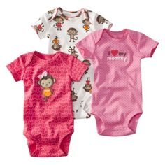 51ea224810 JUST ONE YOU Made by Carters ® Infant Girls 3 Pack Bodysuit Set -  Pink.Opens in a new window.  18 RN