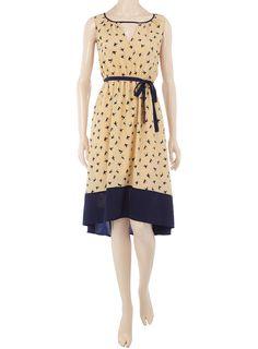 bird print dress - dorothy perkins $55