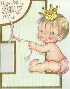 Vintage 1960's Die Cut Birthday Greeting Card