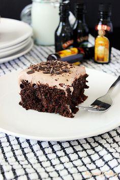 Mudslide Poke Cake http://beyondfrosting.wordpress.com