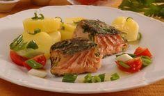 Kráľ zdravia a štíhlosti: Pripravte si lososa inak Asparagus, Steak, Fish, Vegetables, Design Patterns, Apps, Inspired, Studs, Design Templates