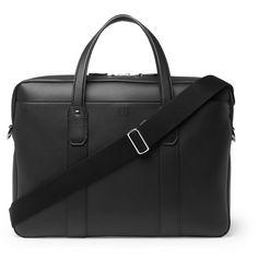 Color : Blue Carriemeow Office Leather Briefcase 14 Netbook Shoulder Messenger Crossbody Satchel Bag Organizer Dark Blue for Men Business