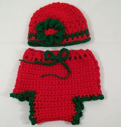Christmas Diaper Cover and Hat Baby Gift SetRed and by togs4tots, $35.00