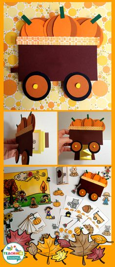 Fall Vocabulary Activities & Foldables by teachingtalking.com