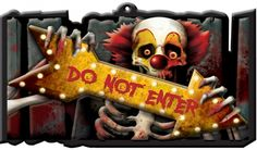 Creepy Carnival 'Do Not Enter' Sign - 43.8cm. Perfect for creepy carnival or…