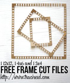 Free Stripey Frames Silhouette Cut Files from Traci Reed #Silhouette #CutFile