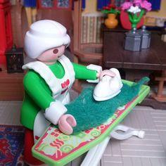Back to work :-) #Playmobil #toyphotography #plasticculture #toyleague #northpole #mrsclaus #household #santashouse #toyatwork #toyartistry #reallifeinmini #laundry #tuesday