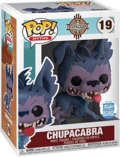 Dive deep into the world of myth, folklore and legend with a magical creature who will bring a touch of mystique to any collection. Chupacabra might not be what you expect, but he's exactly what your collection needs. Funko Pop Dolls, Figurines Funko Pop, Funko Figures, Figurine Pop, Pop Vinyl Figures, Pop Characters, Pop Collection, Magical Creatures, Cool Toys