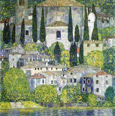 The Church in Cassone (Landscape with Cypress) Gustav Klimt