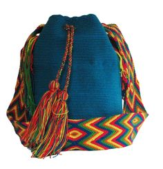 Buy Wayuu Bags Online-Colombian Bags Retailers and Wholesalers-Suscribe and Get 3 FREE Wayuu Bracelets with your first purchase! Tribal Bags, Dark Brown Color, Light Pink Color, Turquoise Color, Electric Blue, Online Bags, Handmade Bags, Bucket Bag, Boho Fashion