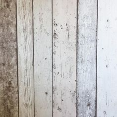 Multi Coloured Washed Timber Wallpaper #timberlookwallpaper #timberdesign mber #timberdesign #wooddecor