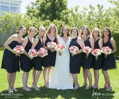 Coral, Navy and White Nantucket Wedding with Brea McDonald Photography (www.breamcdonald.com) & Soirée Floral (www.soireefloral.com) #nantucketwedding #coral #peonies #breamcdonald #soireefloral #bridesmaids
