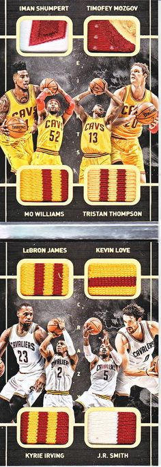 LEBRON JAMES KYRIE IRVING 2015-16 PREFERRED CRAZY EIGHTS PATCH 2/5
