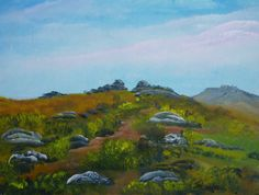 Original Signed Oil/Acrylic Painting of Dartmoor Stones in Devon - Art