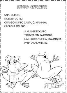 Educacao Infantil Cantigas Escritas E Ilustradas Para Pintar