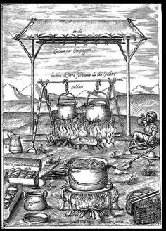 How to cook for a banquet: Bartolomeo Scappi - Italian Ways Renaissance Food, Isabella Of Castile, Medieval Recipes, Age Of Enlightenment, Medieval Life, Cooking Equipment, Historical Images, British Library, 16th Century
