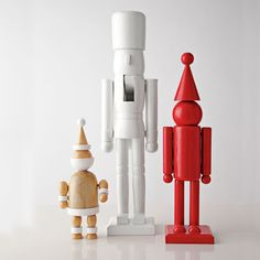 Modern Christmas Decorations spray painted dollar store nutcrackers | christmas | pinterest