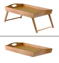 Folding Bed Tray with Angled Legs $29.99 solid hardwood